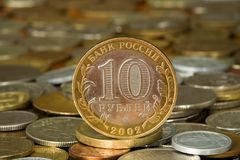 Money 002 coin ruble. Money 002 coin 10 ruble Stock Images
