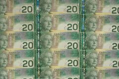Money 029 bill lot of cad.  Royalty Free Stock Photo