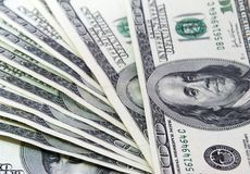 Money 100. Some one hundred dollars banknotes stock photography