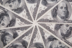 Money, 100 american dollars Royalty Free Stock Photography