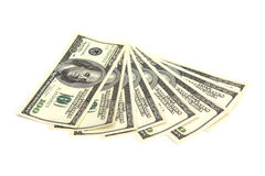 Money - 100 dollar bills Royalty Free Stock Photos