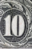 Money. Close up of a 1904 us 10 dollar bill Stock Photos
