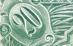 Money. Close up of a 1905 us 20 dollar bill stock photos