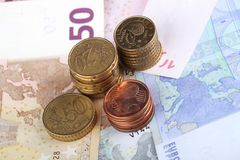 Money. A pile of european money for make business Royalty Free Stock Image