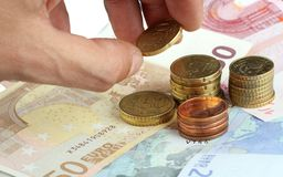 Money. A pile of european money for make business Royalty Free Stock Photos