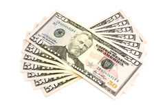 Money. On a white background Royalty Free Stock Images