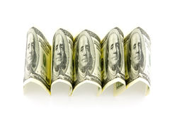 Money. On a white background Stock Photography