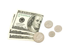 Money. On a white background Royalty Free Stock Image