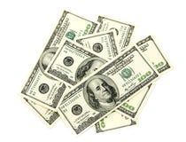Money. On a white background Stock Photos