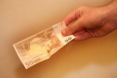 Money. Fifty euro Royalty Free Stock Photography