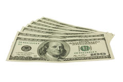 Money. Small bag of money on a white background Royalty Free Stock Image