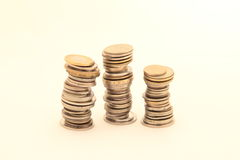 Money. Chinks on a white background Royalty Free Stock Photo