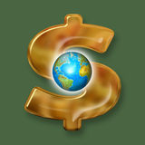 Money. Business world (money - power of world stock illustration