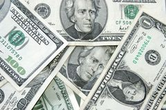 Money. A pile of different dollars Stock Images