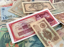 Money. Different types of money Royalty Free Stock Images