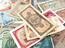 Money. Different types of banknotes Stock Photo