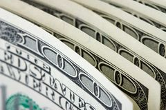 Money. Close-up of a $100 banknotes Stock Images