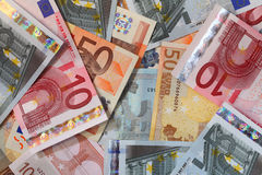 Money. A lot of euro bank notes Royalty Free Stock Photos