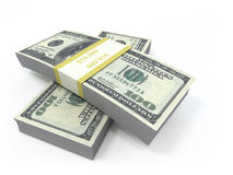Money. Stack of dollars on white; clippng path Royalty Free Stock Photography