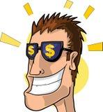 Money!. A man thinking of money. Vector illustration stock illustration