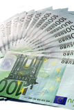 Money. Few money papers by one hundreed euro Stock Image