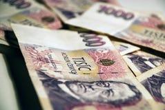 Money #2. A batch of CZK (Czech Koruna), 1000 CZK bills Stock Photos