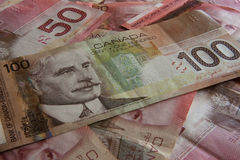 Money. Background made of canadian money Royalty Free Stock Photos