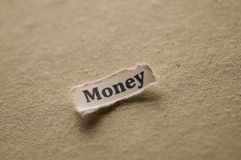 Money. Picture of a word money Royalty Free Stock Image