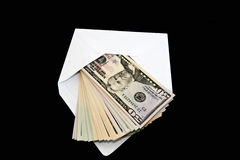 Money. 50 Dollars coming out of an envelope Stock Images