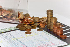 Money. Index of business finance Royalty Free Stock Images