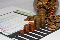 Money. Index of business finance Stock Image