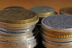 Money. Of different countries. Macro. Composition of coins Royalty Free Stock Photography