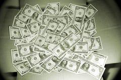 Money. Box of new cash money bills stock photography