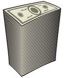 Money. A big pile of money Royalty Free Stock Photos