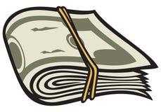 Money. Brass money, money linked rubber band Royalty Free Stock Photo