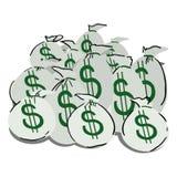 Money. Sacks of money isolated on white Stock Photography