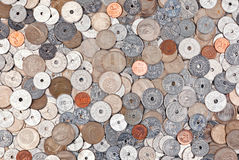 Money. Pile of norwegian money coins Stock Photos