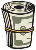 Money. Roll, bank roll, american Royalty Free Stock Photos