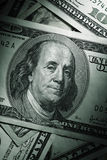 Money. Close up of a $ 100 banknotes Stock Image