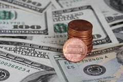 Money. Notes and coins stock image