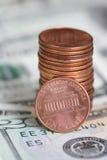 Money. Detail of coins stock photos