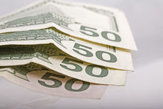 Money. Two hundered dollars stock photography