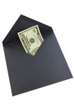 Money. Ten $ in grey envelope Royalty Free Stock Photos