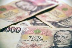 Money #4. A batch of CZK (Czech Koruna), 1000 CZK bills Royalty Free Stock Photos