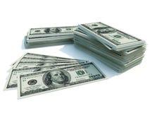 Money. American dollars isolated on white Stock Photos