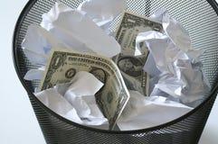 Money. In bin - dollars Royalty Free Stock Image