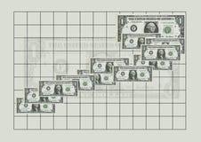 Money. Graph - dollars Stock Photos