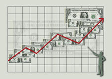 Money. Graph - dollars Royalty Free Stock Image
