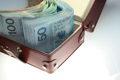 Money. A lot of polish money Royalty Free Stock Photos