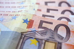 Money - 50 euro banknotes Stock Images